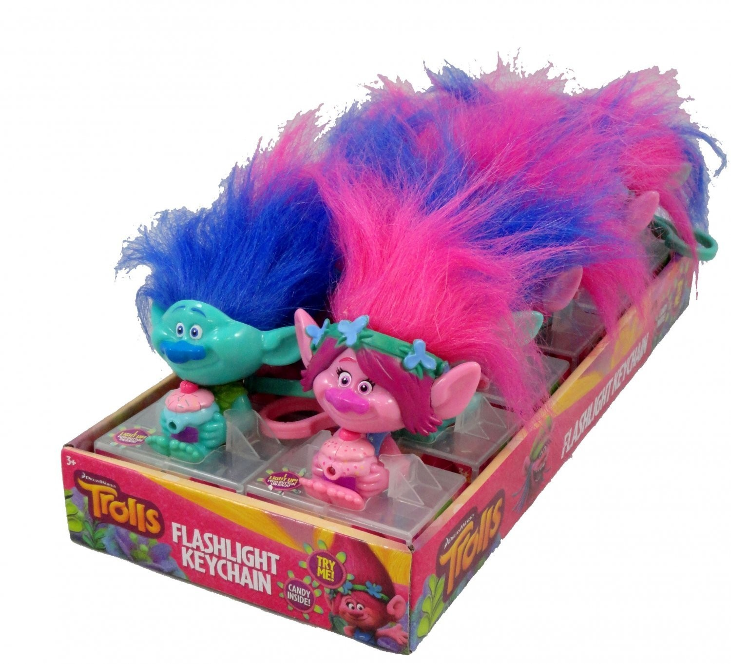 Dreamworks Trolls Character Flashlight, 2/12ct