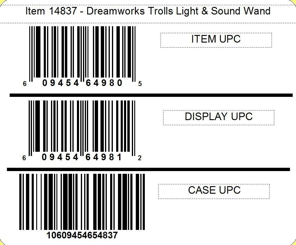 Dreamworks Trolls Light & Sound Wand, 2/12ct