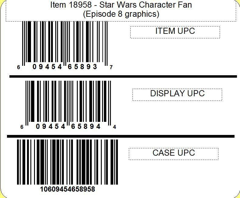 Star Wars Star Wars™ Episode 8 Character Fan, 2/12ct
