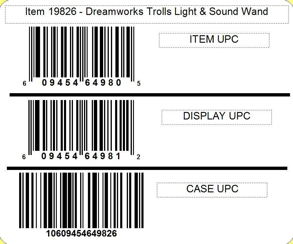 Dreamworks Trolls Light & Sound Wand