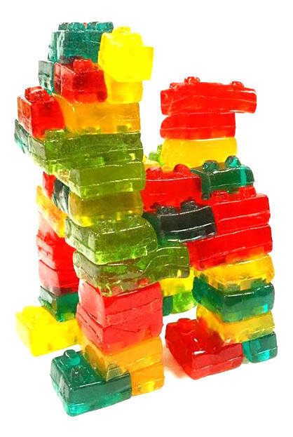 CandyRific  4-D GUMMY BLOCKS PEG BAG