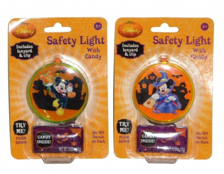 Disney ©Disney Halloween Mickey & Minnie Safety Light