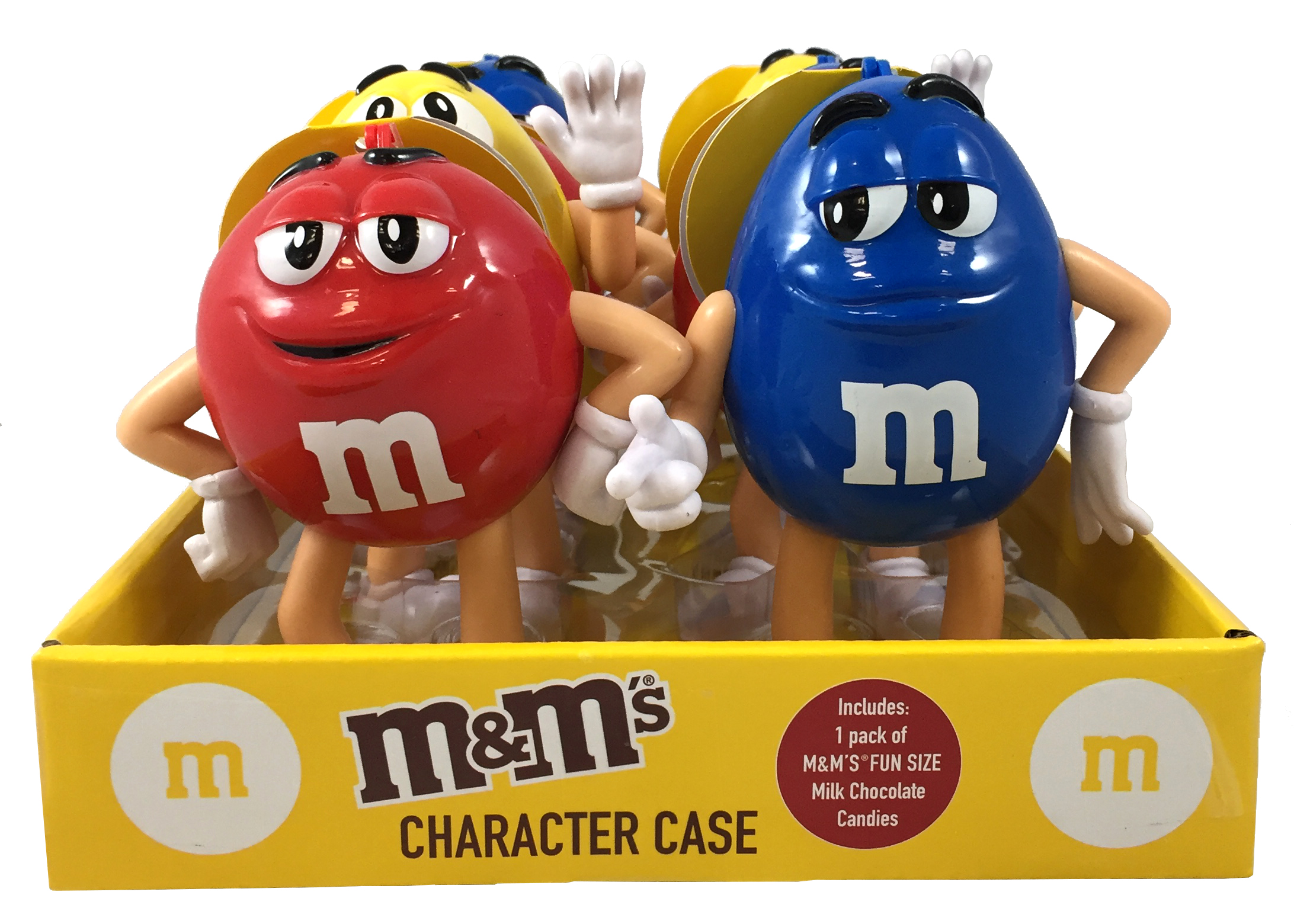 4.25 Inches 2018 Candy Rific Mars Blue M/&M Character Case