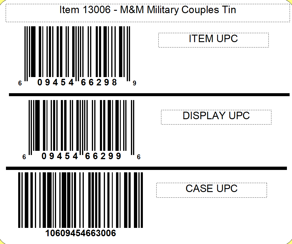 M&M's M&M'S ® Military Couples Candy Tin