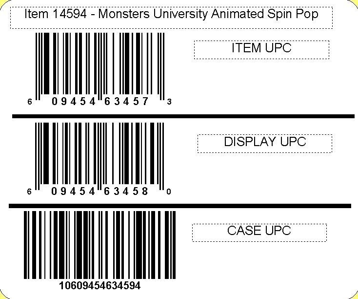 Disney ©Disney•Pixar Monsters University Animated Spin Pop with candy