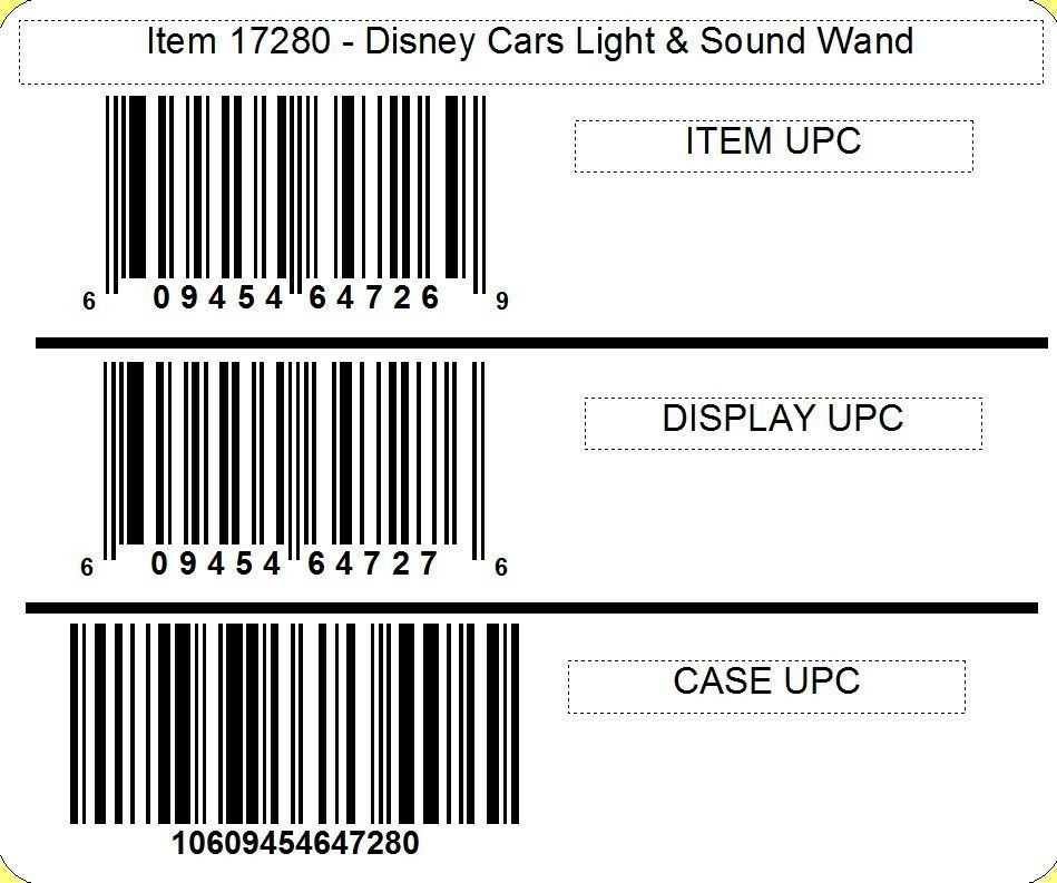 Disney ©Disney•Pixar Cars 3 Light & Sound Wand with candy