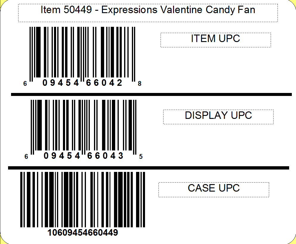 CandyRific  Expressions Valentine Candy Fan