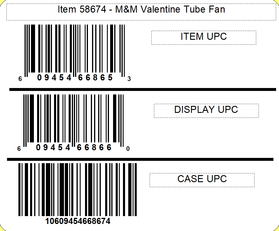 M&M's M&M'S® Valentine Tube Fan