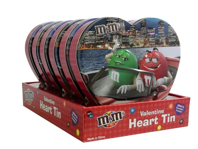 M&M's M&M'S® Large Heart Tin Combo Case