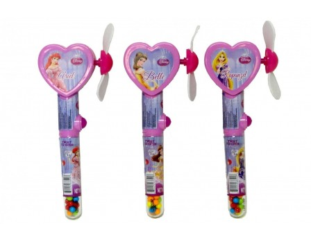 Disney ©Disney Princess Heart w/ Mirror Cool Fan with candy